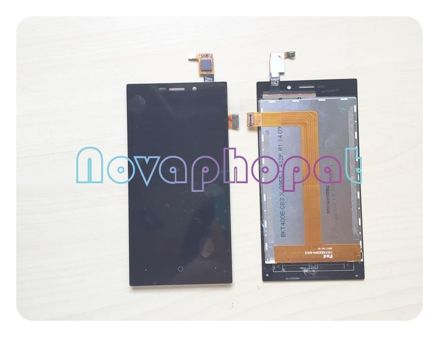 "Novaphopat 4"" Black Touchscreen For Highscreen Zera F Rev.S LCD Display Touch Screen Digitizer Sensor Full Assembly Replacement"