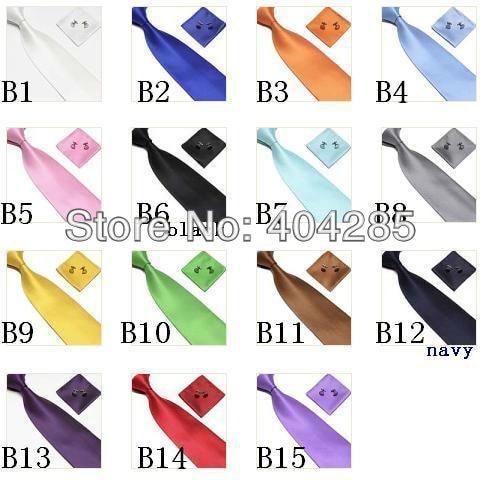 شحن مجاني (100 مجموعات/وحدة) 15 لون مجموعة ربطات عنق للرجال