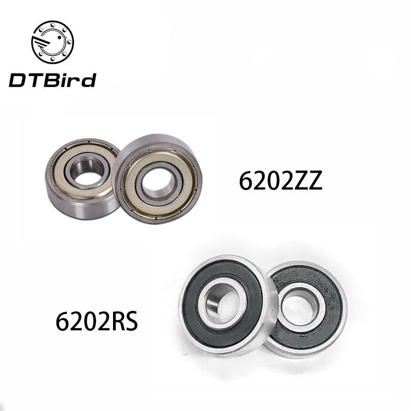 6202 6202ZZ 6202RS 6202-2Z 6202Z 6202-2RS ZZ RS RZ 2RZ Deep Groove Ball Bearings 15 x 35 x 11mm High Quality