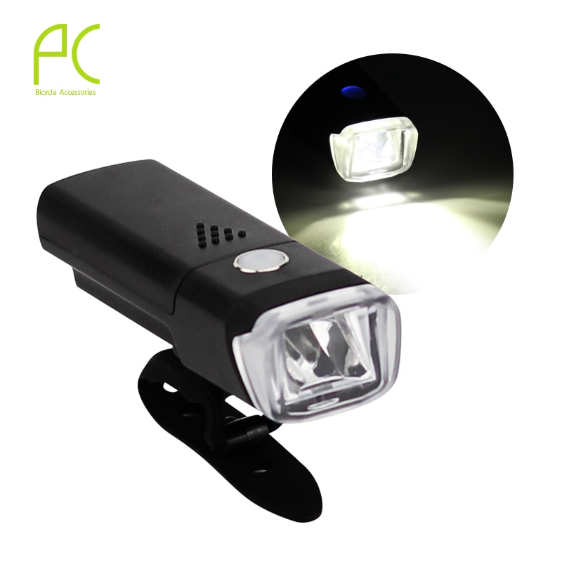 Luz de bicicleta PCycling, impermeable, regulador alemán, LED blanco, 4 modos, luz de advertencia frontal, luz principal de bicicleta de carretera MTB