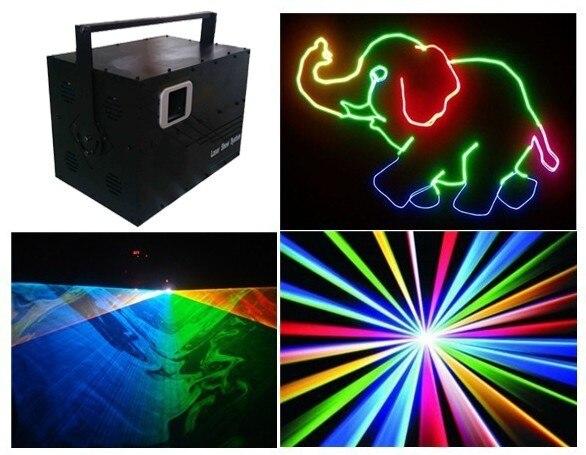 Iluminación láser de alta potencia a todo Color 4,5 vatios para escenario 4500 mW RGB láser DT40K pro rojo 635nm/1,5 W ¡g1W... B2W + Flightcase