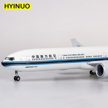 47 cm 1/157 스케일 보잉 b777 dreamliner 항공기 air china southern airlines 모델 w 라이트 및 휠 다이 캐스트 플라스틱 수지 평면
