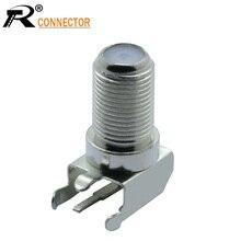 Connecteur de prise de TV de câble de CATV en métal sur le connecteur F femelle à Angle droit de carte PCB
