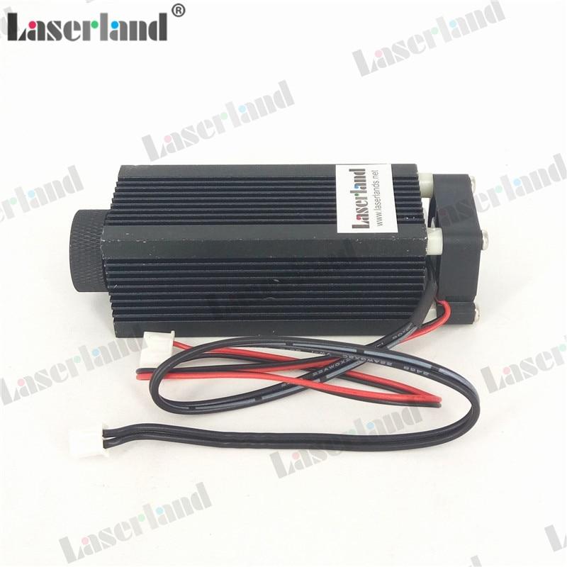 Casa/vivienda/disipador térmico para C-mount de diodo láser módulo LD 33*80mm w/lente de cristal
