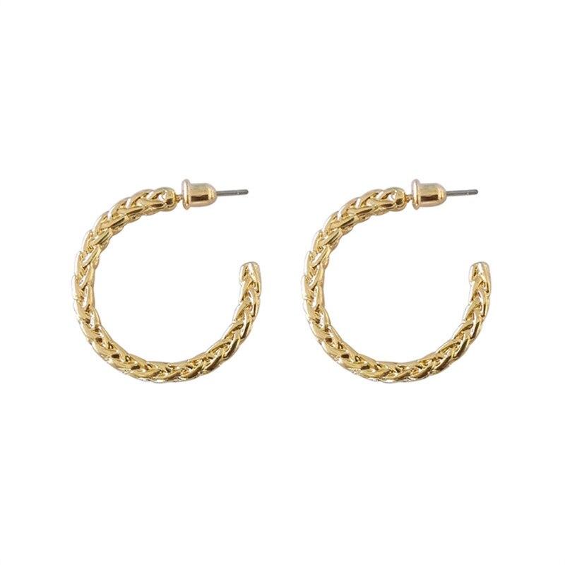 Basic circle small earrings Punk fashion earrings Delicate contracted earrings for men and women  metal earrings jewelry