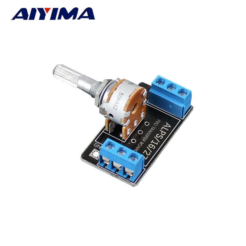 AIYIMA 1PC 50K potenciómetro de los Alpes doble 6-Pin potenciómetro volumen placa PCB
