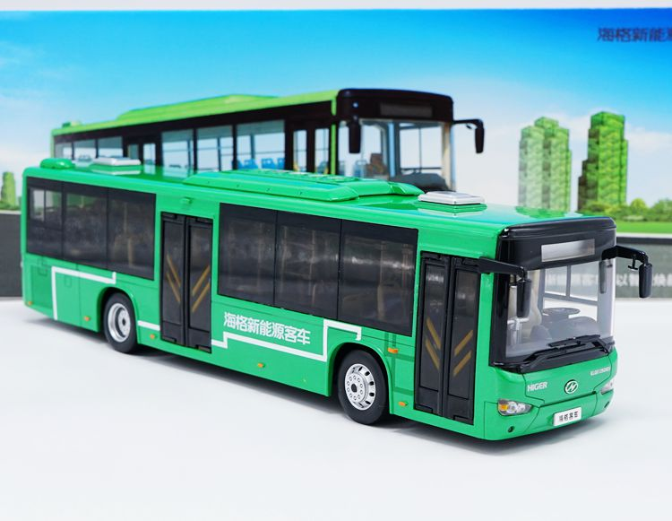 Alloy Model Gift 1:42 Scale KingLong Higer B92H KLQ6129G New Energy Transit Bus Vehicle DieCast Toy Model Collection Decoration alloy model 1 24 scale kinglong higer bev pure electric transit bus vehicle diecast toy model for collection decoration