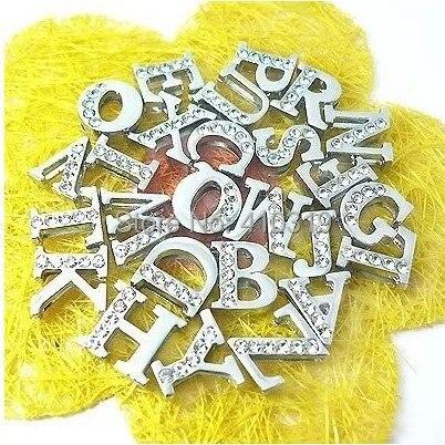 260 قطعة/الوحدة 8 ملليمتر A-Z نصف حجر الراين الشريحة الرسالة diy الأبجدية ، الكلب سحر