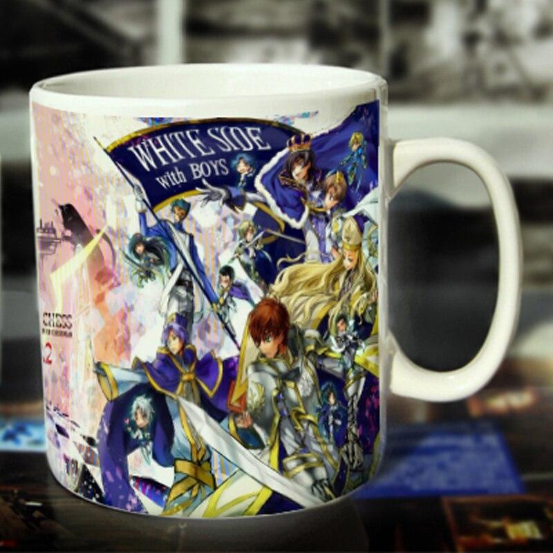 Taza de café de cerámica Geass de nuevo código Color blanco o taza cambiada de Color Tipo 2 --- Loveful