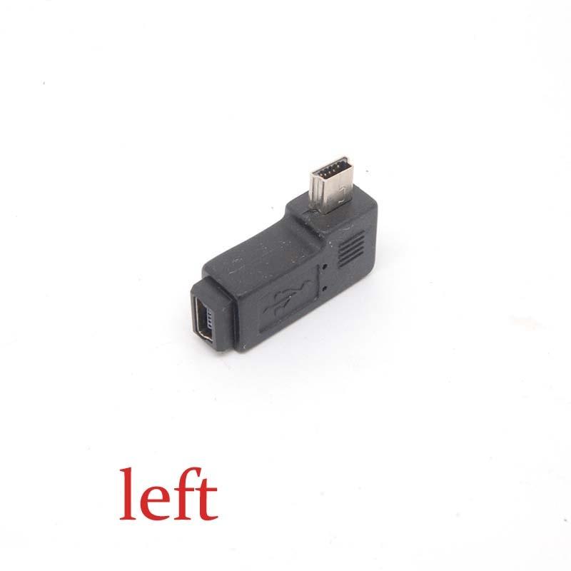 Premium Mini USB Masculino esquerda-Ângulo para Mini USB Tampa Fêmea conversores adaptador novo