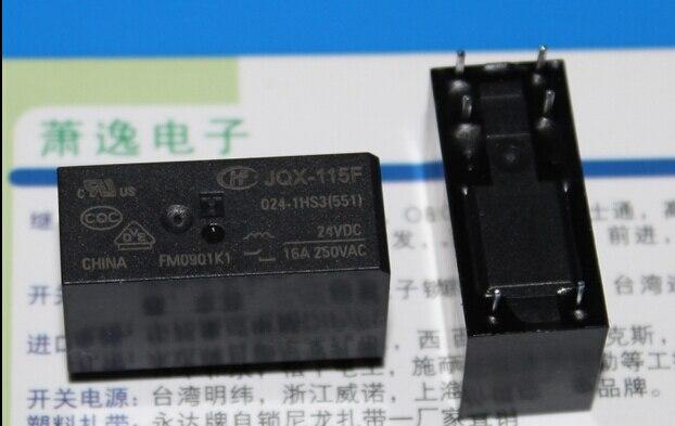 HOT NEW JQX-115F-024-1HS3-24VDC JQX-115F 024-1HS3-24VDC JQX-115F 024-1HS3 24VDC 16A 250VAC relé DIP6