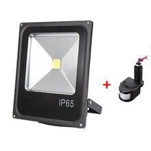 10W 20W 30W LED Flood światło na czujnik ruchu wodoodporna AC110V 220V LED reflektor projektor lampa reflektorowa zewnętrzne światło halogenowe