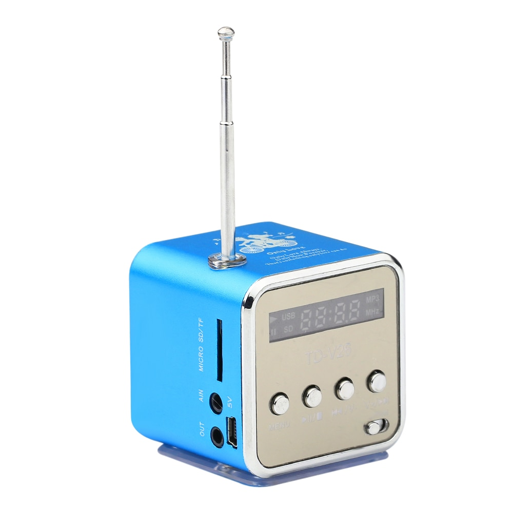 TD-V26 mini alto-falante portátil micro sd tf alto falantes leitor de música mp3 fm rádio usb estéreo pc para mp4 computador