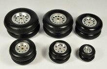 1 шт. резиновое колесо с алюминиевым ступиком для радиоуправляемой модели самолета и DIY шины для робота 1,75