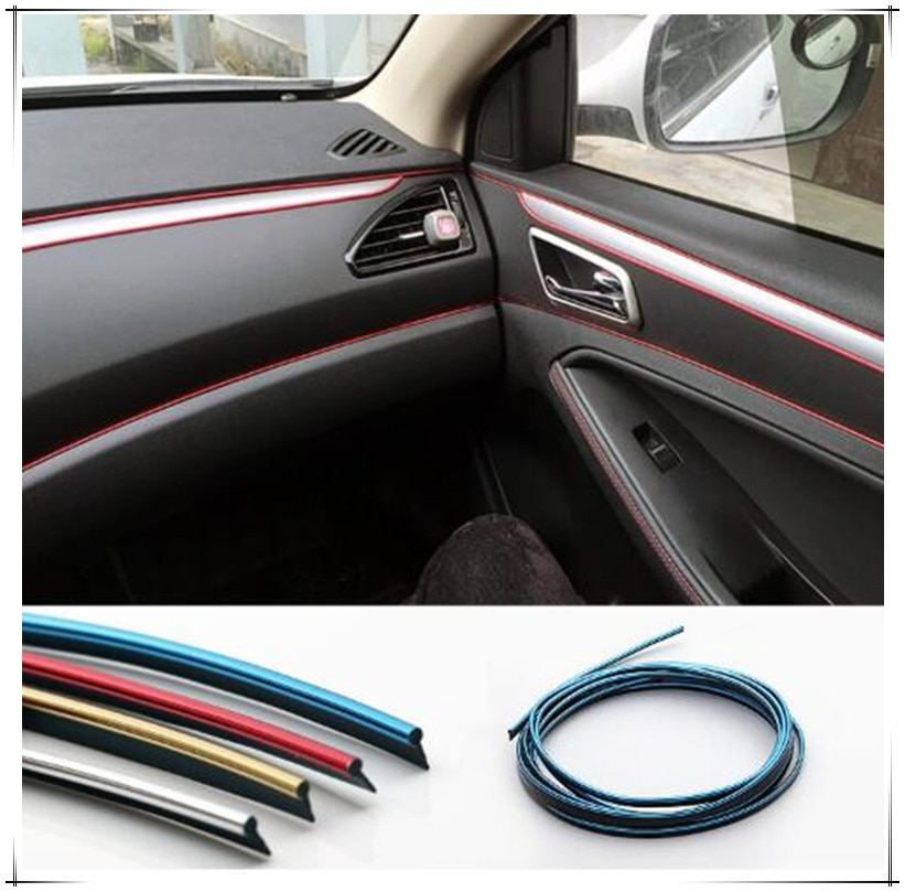 Adhesivo decorativo para interiores de 5M Estilo de coche para volkswagen passat b5 b6 b7 golf 4 6 7 vw polo mk4 citroen c4 c5 Accesorios
