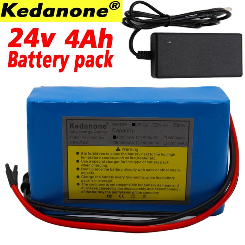 24V 4Ah 6S2P 18650 аккумулятор литий-ионный аккумулятор 25,2 v 4000mah Электрический велосипед мопед/Электрический/комплект литий-ионный батарей + зарядное устройство