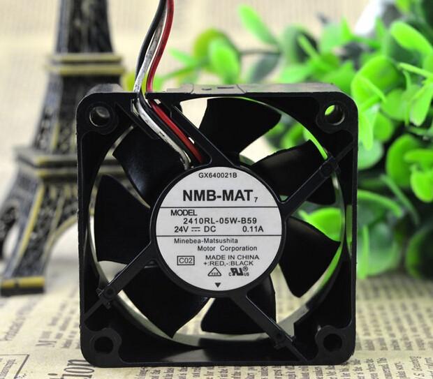 NMB 60*60*25 24V 0.11A 2410RL-05W-B59 6CM 3 wire inverter fan