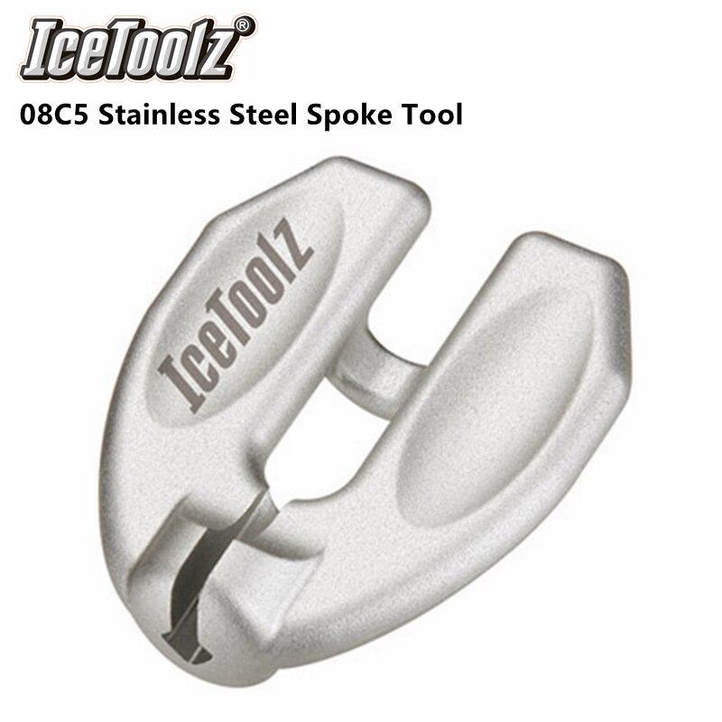 """IceToolz нержавеющая стальная спица инструмент, для 3,45 мм/80 ga./0,136 """"сосков. Эргономичный дизайн для спиц высокого напряжения. ICE TOOLZ"""