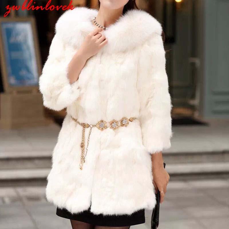 hairy maclary scattercat Luxury Faux Fur Coat Women's Autumn Winter Warm Collar Half Sleeve Long Hairy Fluffy Overcoat Vintage Outerwear Belt 2C0158