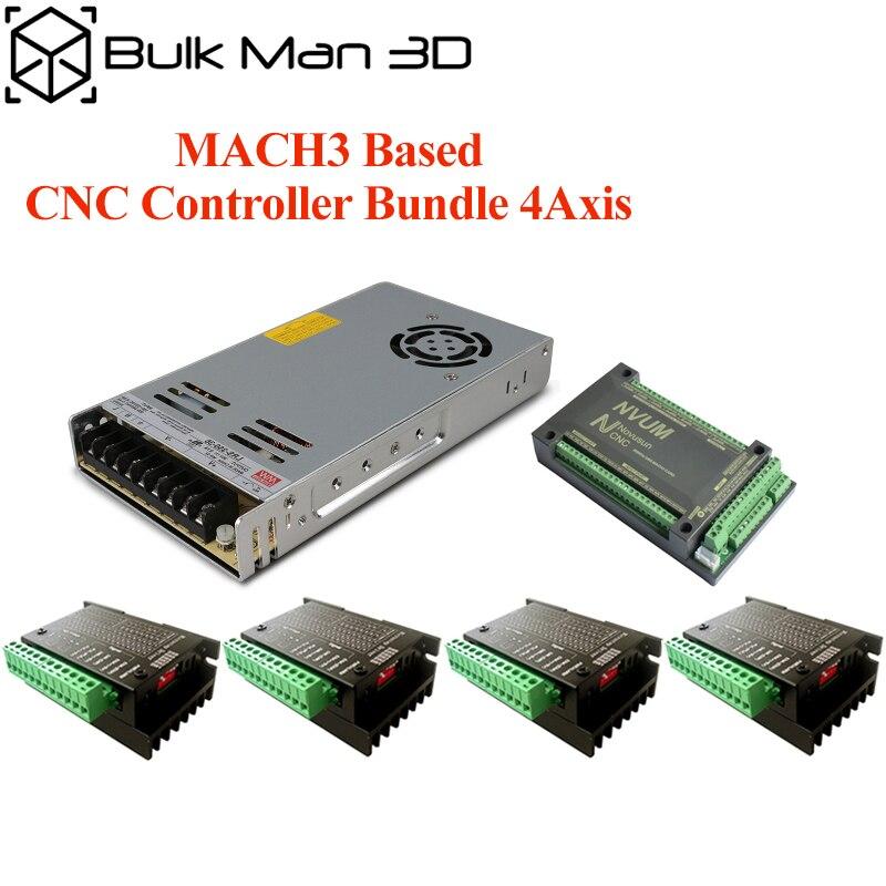 Набор 4-осевых контроллеров с ЧПУ, набор маршрутизатора с ЧПУ, набор шагового двигателя TB6600 для OX CNC, Workbee и других станков с ЧПУ