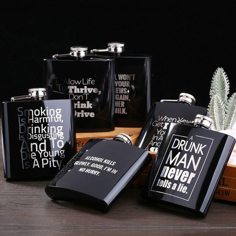 Botella de vino de 6 oz, embudo de botella a la cadera, recipiente de Alcohol grabado personalizado, recipiente de acero inoxidable para padrinos de boda, regalo