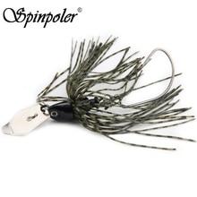 Spinpoler 1Pcs/Lot Spinner Bait Head Weight 14g Soft Rubber Skirt Jig Spoon Fishing Lure SpinnerBait Wobbler Artificial