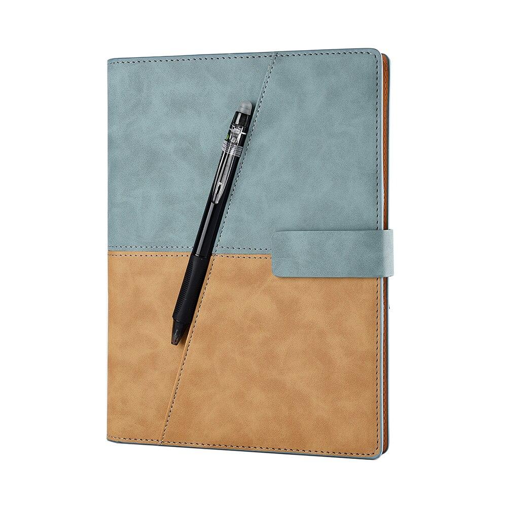 Кожаный спиральный блокнот для рисования A5, умный многоразовый стираемый блокнот для записей, блокнот для школы, офиса, подарочные принадлежности