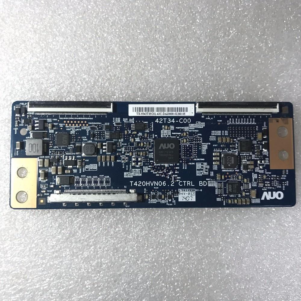 Envío Gratis, original t-con 42T34-C00 t420hvn06,2 CTRL BD 42T34-COO para pantalla T420HVF06.0