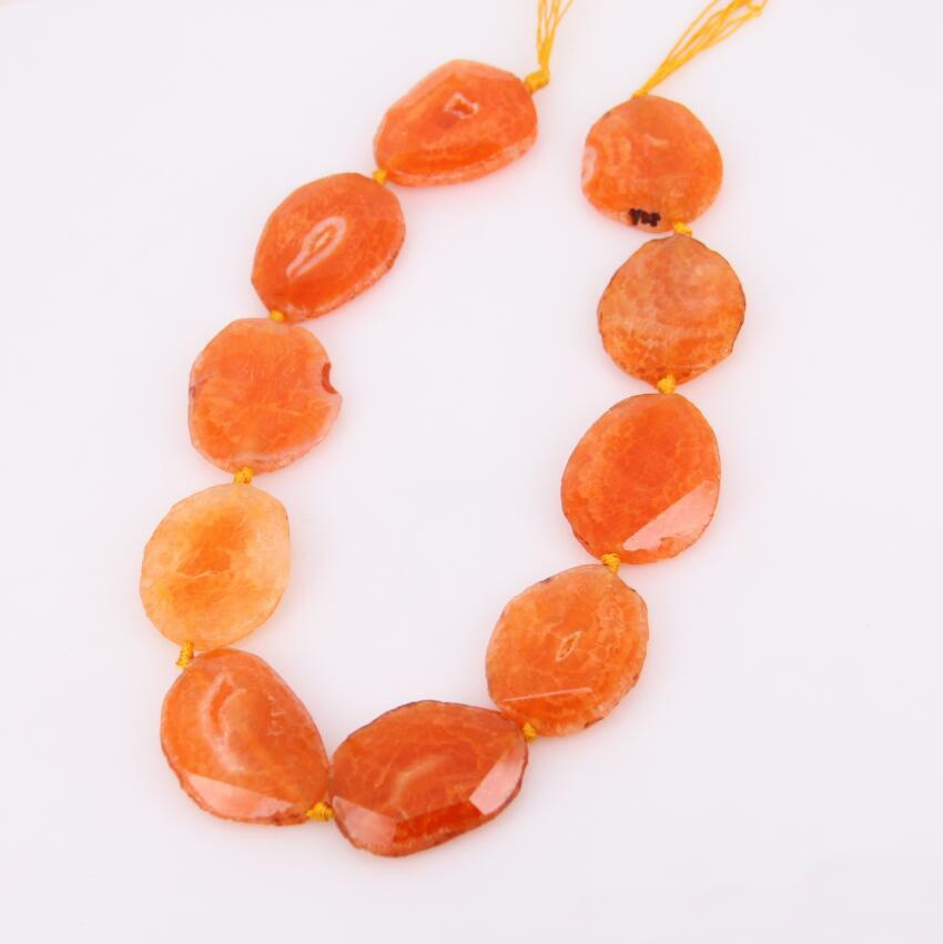 Прибл. 9 шт прядь, оранжевые Агаты
