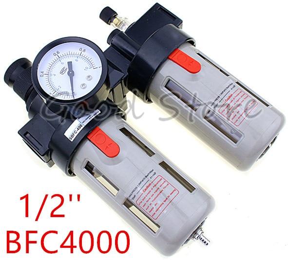 """1 Uds BFC4000 1/2 """"regulador de presión de aire aceite/separador de agua filtro de aire combinación de filtro de aire BFC-4000"""