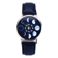 Fabulous new Women watches Lunar Eclipse Pattern Leather Analog Quartz Wrist watch women men watch bayan kol saati relogio