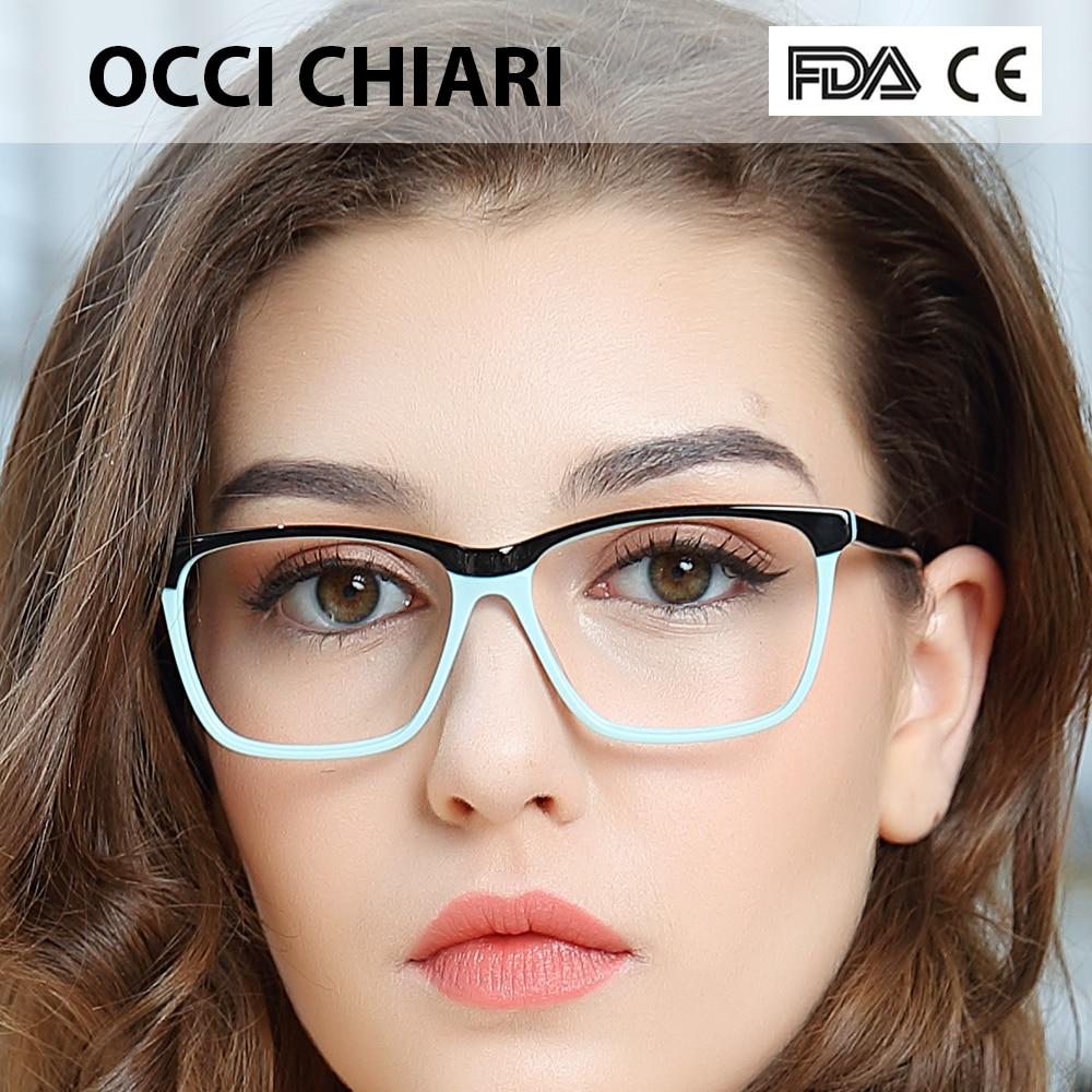 OCCI CHIARI moda gran llanta anteojos 54cm para mujeres primavera bisagra lente graduada gafas ópticas médicas marco W-ZOPPI