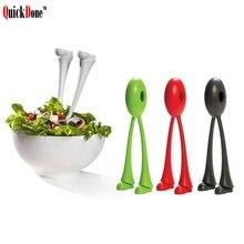 QuickDone cuillères à salade à pied Long   Ster soupe Gadget de cuisine, Scoop légumes, fruits outils de cuisine AKC5286 2 pièces/lot
