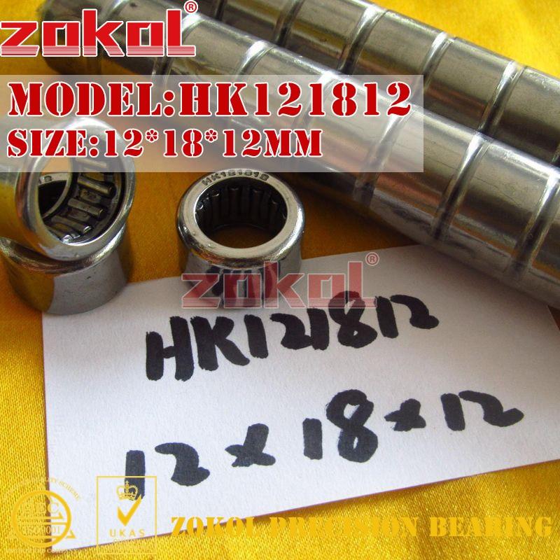 ZOKOL bearing HK121712 HK1215 HK1218 HK121812 HK121816 HK121912 HK121915 Needle Roller Bearing 12*17/1819*12/15/16/18mm