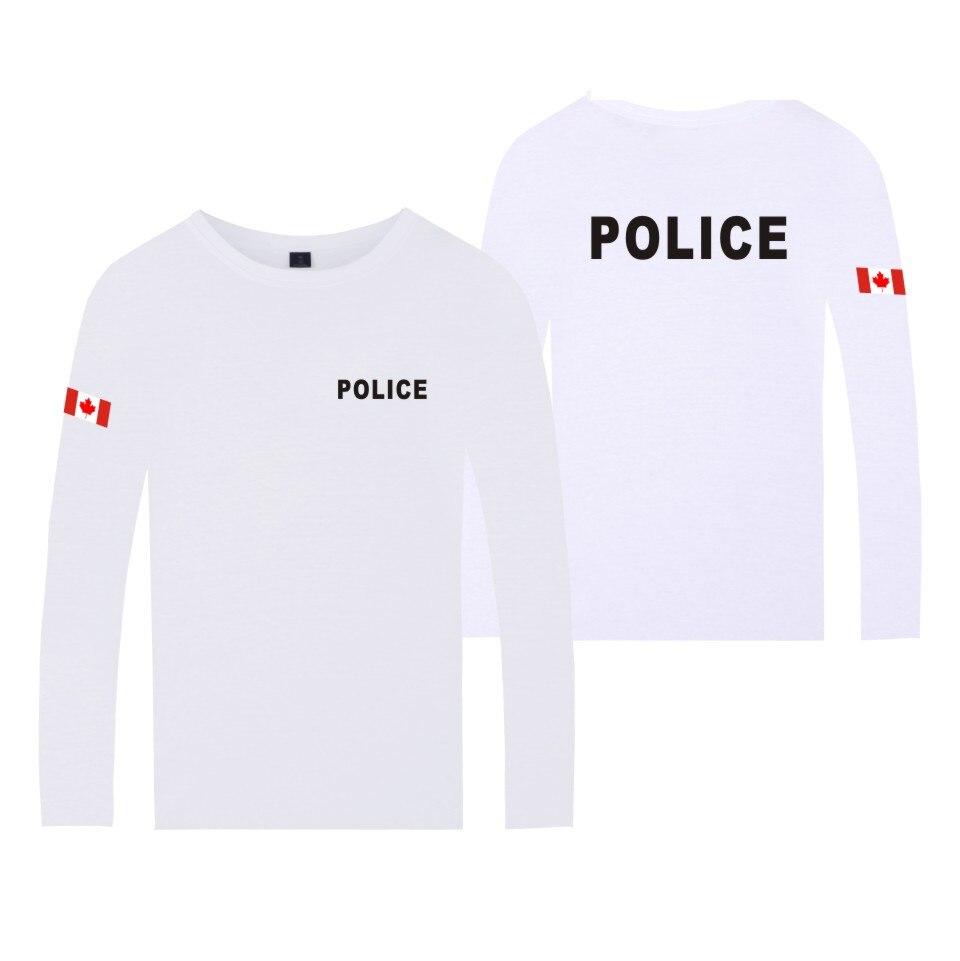 Ropa de policía para mujer/hombre, camiseta de manga larga, camiseta Casual de otoño a la moda con estampado de policía, camiseta de Marca Top Casual de manga larga