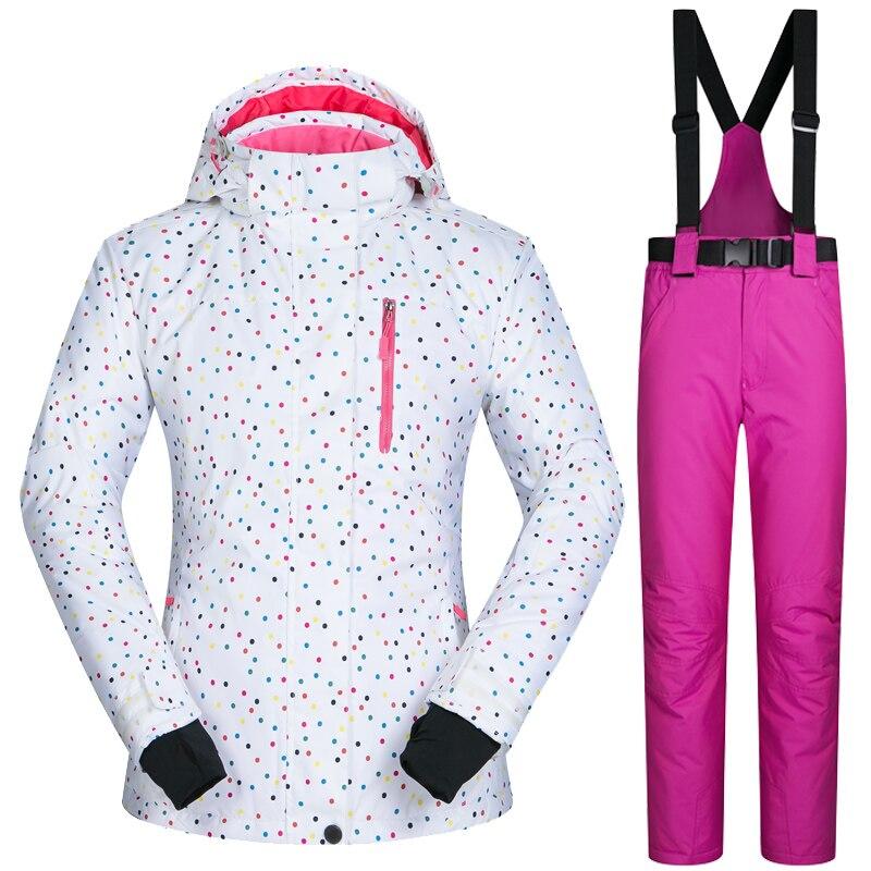 Ski Anzug Marken Frauen Winter Outdoor Winddicht Wasserdichte Berg Ski Jacke Und Hosen Schnee Sets Skifahren Und Snowboarden anzüge