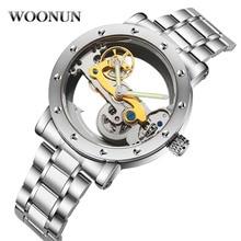 New 2020 Man Watch Luxury Mechanical Watch Men Stainless Steel Automatic Self Wind Watch Skeleton Tr
