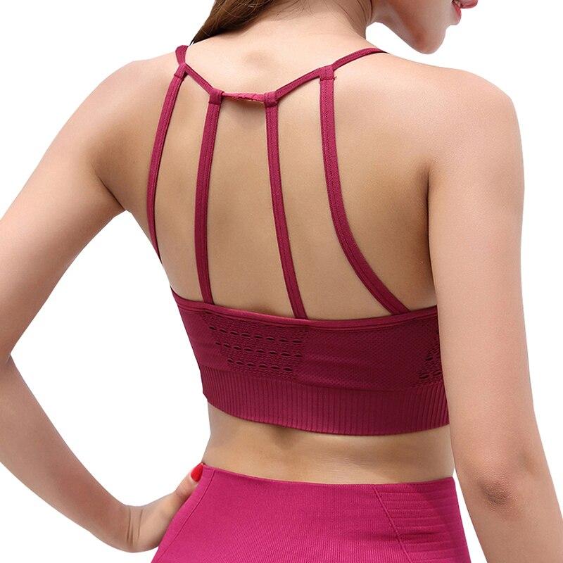 Workout Seamless Bras For Women Push Up Seamless Sporting Crop Top Women'S Sportswear Fitness Shirt Vest 5 Color