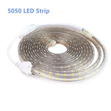 Bande de LED extérieure, bande de LED SMD 5050 V AC 220 V imperméable à la bande, 220 V, bande lumineuse à la bande de LED, 1 M, 2 M, 5 M, 10 M, 25 M, 5050 V
