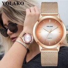 YOLAKO 2019 New Brand Luxe Women Watch Luxurious Design Casual Quartz Leather Band New Strap Watch Analog Wrist Watch NY14