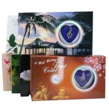 Naturel souhait perle amour coeur Cage collier pour femmes huître goutte pendentif perle boîte de noël saint-valentin cadeaux 17