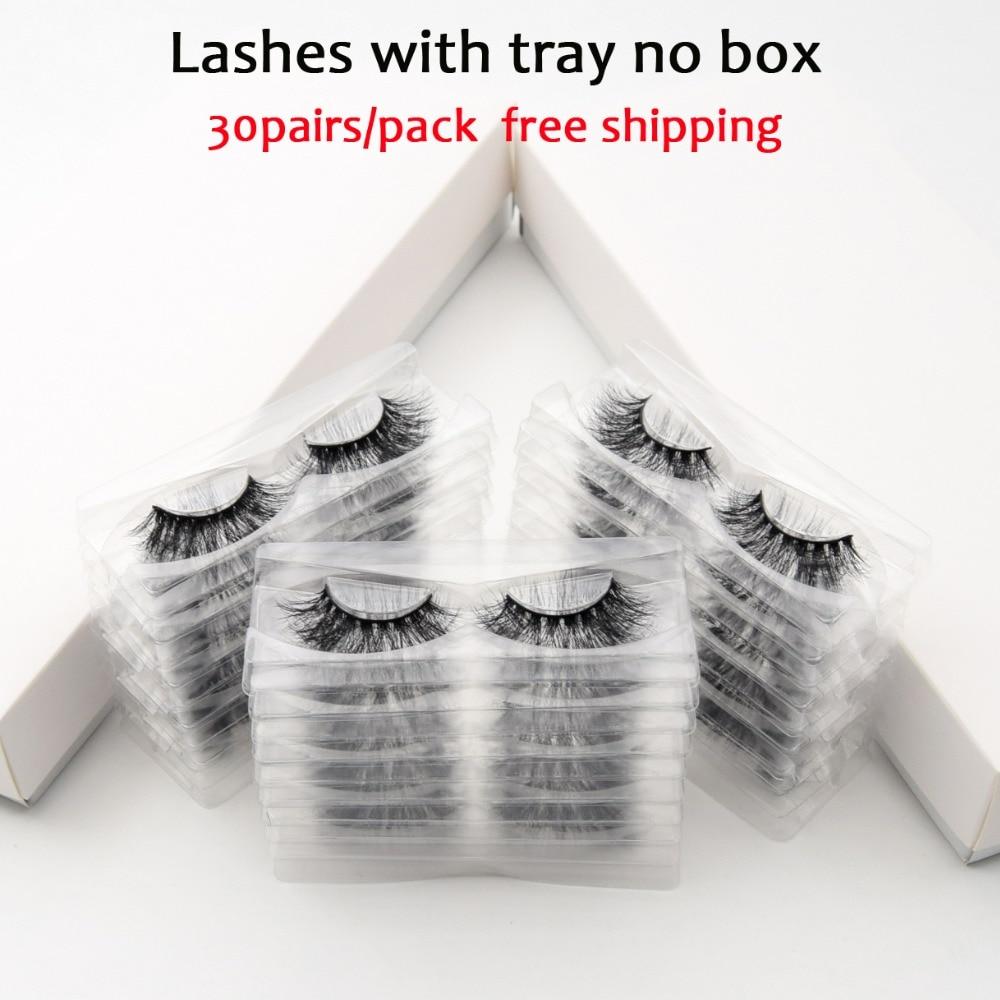 30 çift/paket Visofree Lashes 3D vizon kirpik tam şerit Lashes el yapımı Premium vizon saç çok kullanım yanlış kirpik makyajı
