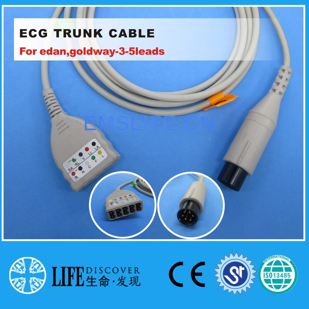 ECG 5-leads trunk cable For edan,goldway-3-5leads patient monitor