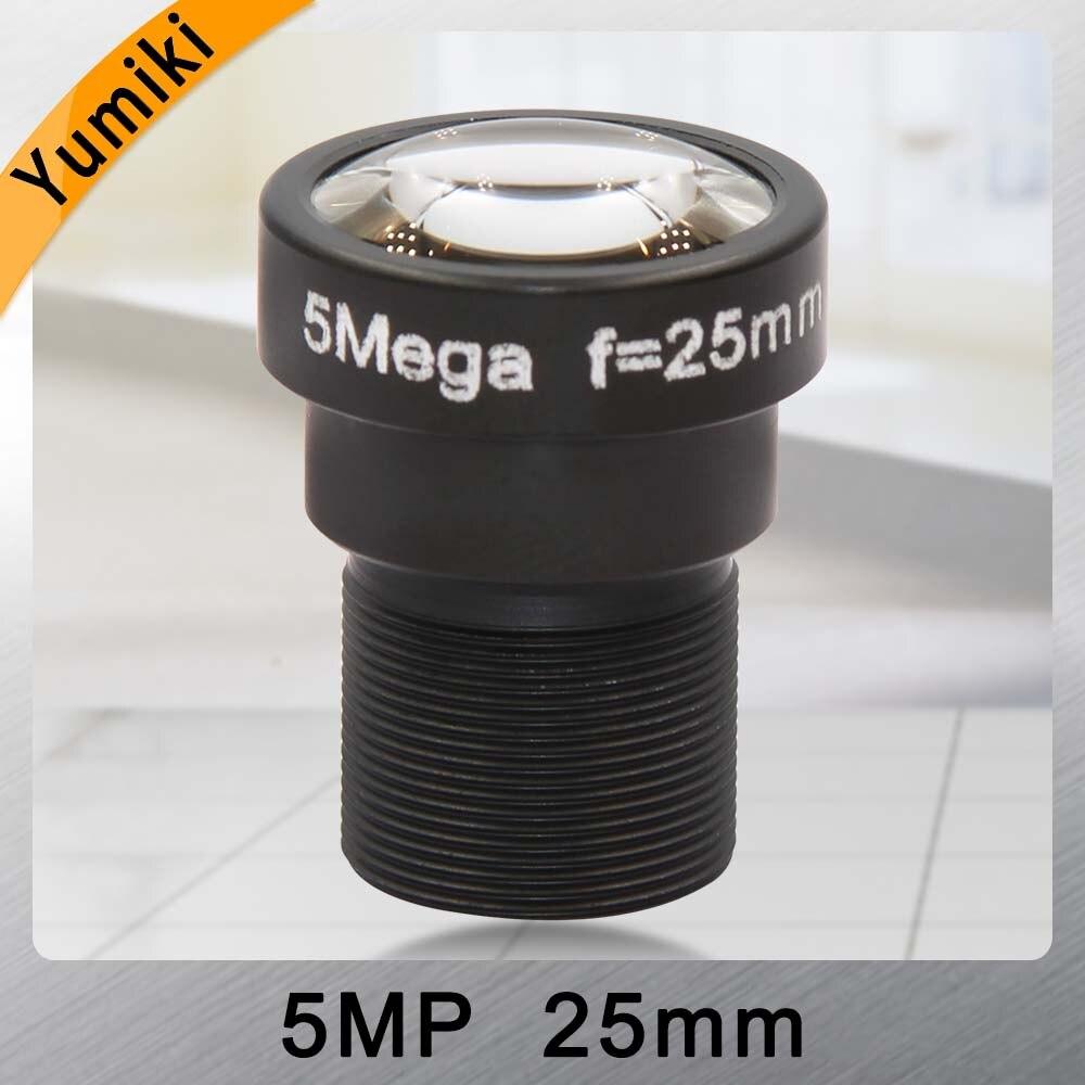 Yumiki 5,0 Megpixel M12 MTV 25mm 5MP HD objetivo de cámara CCTV IR HD cámara de seguridad lente Iris fijo