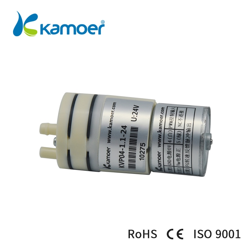 Kamoer KVP04-مضخة هواء كهربائية بغشاء صغير ، 1 لتر/دقيقة ، معدل تدفق منخفض ، ضوضاء منخفضة ، 12 فولت/24 فولت