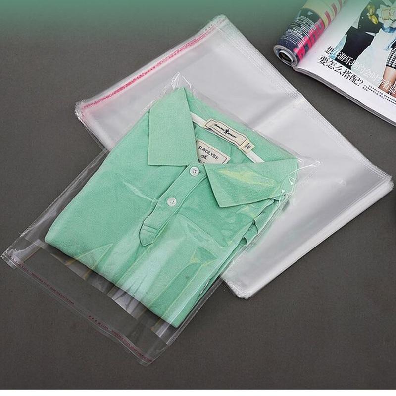 Gran tamaño, bolsas de celofán resellables de poliéster OPP, bolsa de plástico adhesiva automática, bolsa de sellado autoadhesiva, celofán transparente que se puede volver a sellar