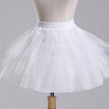 Accesorios de boda para niñas, enagua, Vestido de bola Longo, falda de crinolina, enaguas, en Stock, envío rápido