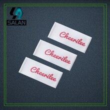 Étiquettes principales faites sur commande de ruban dimpression de sérigraphie pour des étiquettes tissées par damassé détiquette de vêtement de vêtements