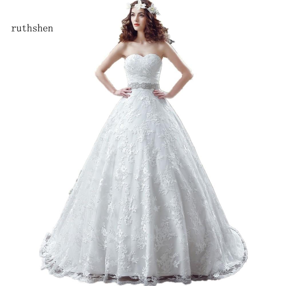 Mejor venta bola Vestido boda Vestidos Baratos con el lujo de cristales...