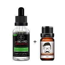 2pcs Fast hair grow essence alopecia products beard grower for baldness regrowth serum for men and women Beard Moisturizing kit